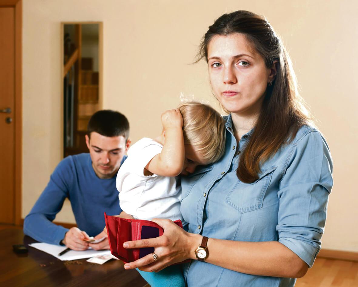 мама с ребенком без денег